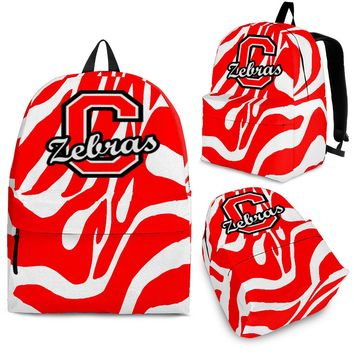 Red Zebra Stripe Backpack