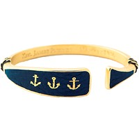 Sunset Sail Oar Cuff in Gold and Navy by Kiel James Patrick