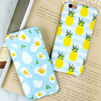 Egg Pineapple iPhone 6 6s iPhone 6 6s Plus Case Originality Cover + Gift Box 416