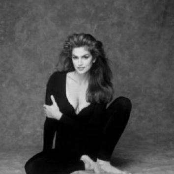 "Cindy Crawford Poster Black and White Poster 24""x36"""