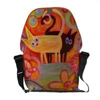 tails and cats messenger bags from Zazzle.com