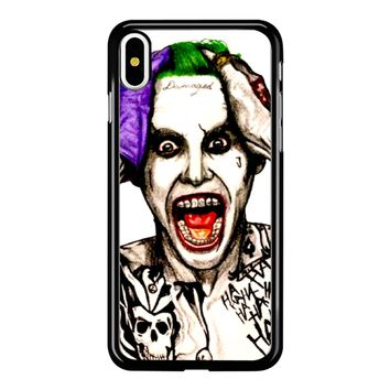 Joker Laugh From Suicide Squad  iPhone X Case