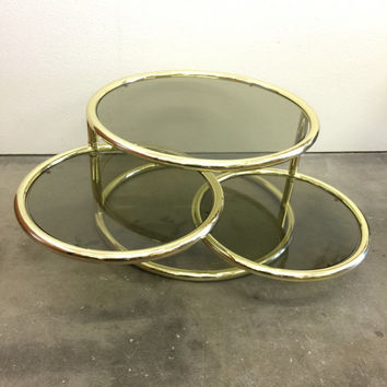 shop brass glass coffee table on wanelo