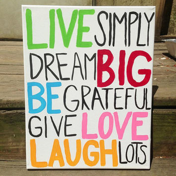 Canvas Painting - Words to Live by
