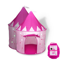 Princess Castle Play Tent with Glow in the Dark Stars conveniently folds in to a Carrying Case