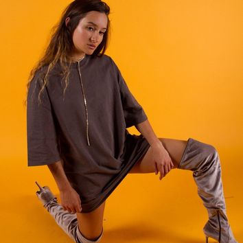 Essential Oversized T-Shirt | Grey