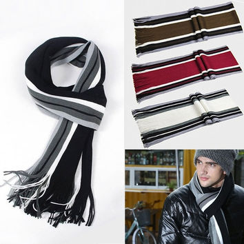 Hot Warm Fashion  Men Artificial wool Scarf Tassels Scarf Long Pashmina Shawl N4 7_S = 1917135812