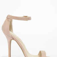 Wild Diva Lounge Adele 01 Nude Single Strap Heels