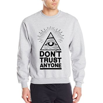 Dont Trust Anyone all seeing eye letters 2017 spring winter fashion men sweatshirts streetwear hoodies tracksuit brand clothing