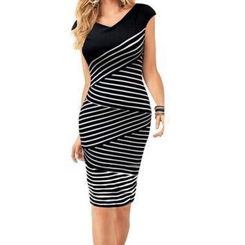 Stripe Pencil Dress