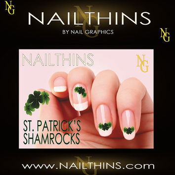 25 St PATRICK'S DAY Shamrock Lucky Clover 3 Sizes by NailGraphics