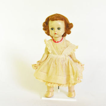 "Collectible Madame Alexander Doll, Straight Leg Walker Alexander Doll, ""8 Collector's Doll, Vintage Collectible Doll, Hard Plastic Doll"
