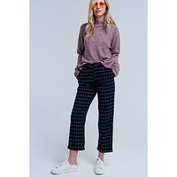 Pants In Navy Check