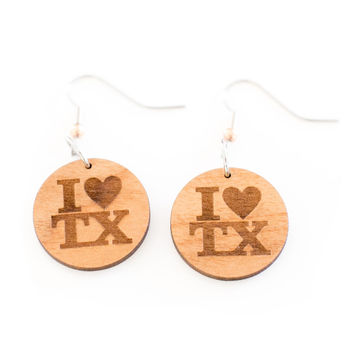 I Heart TX Dangle Earrings