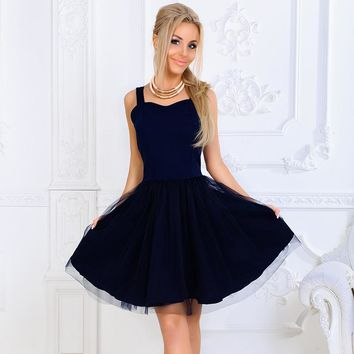 Women Elegant Princess Dresses 2018 New Summer Sexy V-neck backless dress Fashion Strapless party Mini A-Line dress Vestidos