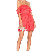 Dream Vacay Dress in Coral Reef