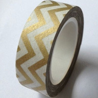 Golden Wave Washi Tape -- Japanese Washi Tape -Deco tape-- 10M