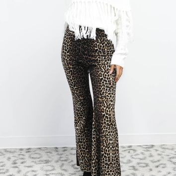Part Time Leopard Flare Pants