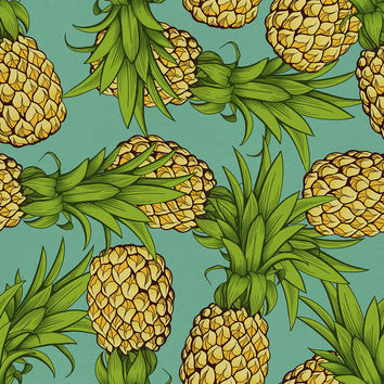 Crazy Pineapples Removable Wallpaper