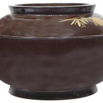 JAPANESE LACQUERED BOWL AND COVER