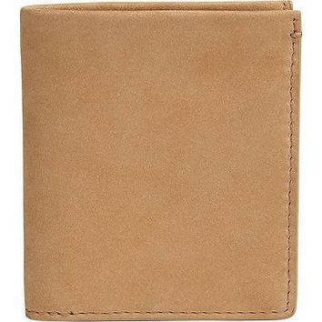 Skagen Nicolai Bifold Wallet in Sand/Steel Grey Leather Wallet