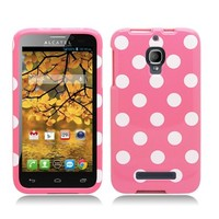 AIMO Trendy Polka Dots Design Case for Alcatel One Touch Fierce [T-Mobile]