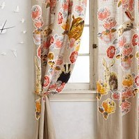 Pixelated Flora Curtain by Anthropologie Multi