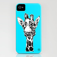 Giraffe Teal iPhone Case by ruizspeaces | Society6