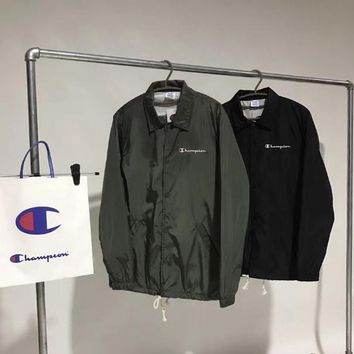 Champion classic collar button jacket Army green
