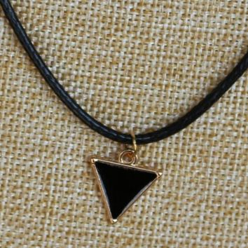 N852 Triangle Pendant Necklaces Fashion Jewelry Geometric Collares Rope Chain Retro Necklace Bijoux Women Men