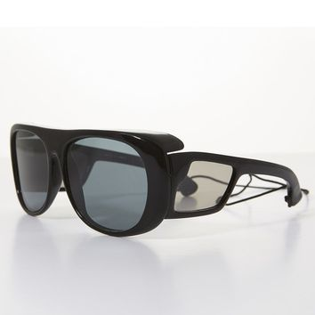 80s Polarized Glass Lens Sporty Vintage Fishing Sunglass - Lerner