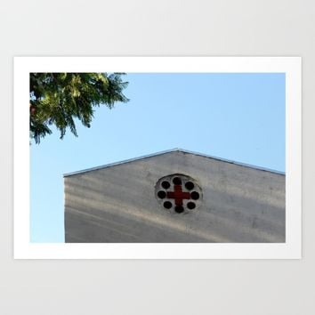 Cross Art Print by Henrik Lehnerer