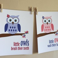 Little Owls Wash Hands And Brush Te.. on Luulla
