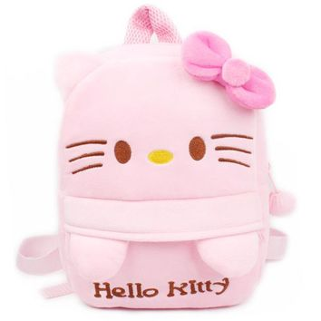 Toddler Backpack class Summer Style Breathable Baby Plush Backpack Cute Cartoon Superman Batman Hello Kitty Schoolbag for Kindergarten Toddler Satchel AT_50_3