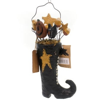 Halloween Boot With Stuffing Halloween Figurine