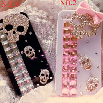 iPhone 5 Case, iPhone 5C case, iPhone 5S case, iPhone 4 Case, iPhone 4s, iPhone 5 bling Case, iPhone 5S case skull , skull iphone 5c case