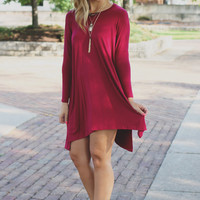 Near & Far Tunic - Wine