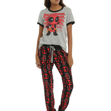 Marvel Deadpool Kawaii Girls Sleep Set