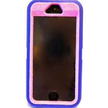 Otterbox Case iPhone 5/5s Glitter Cute Sparkly Bling Defender Series Custom Case Pink / Purple