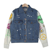 Vintage Smiley Denim Jacket