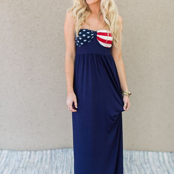 Stars + Stripes Maxi Dress