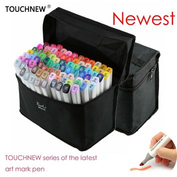 2017 TOUCHNEW 60/80 Colors Artist Dual Headed Marker Set Animation Manga Design School Drawing Sketch Marker Pen Art Supplies