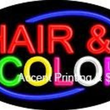 Hair & Color Flashing Handcrafted Real GlassTube Neon Sign
