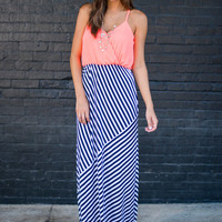 No Contest Maxi Dress, Navy