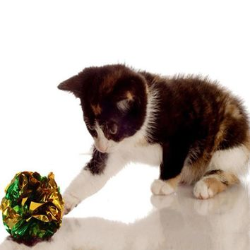 Original Mylar Crinkle Balls Cat Toys-12 Pack, Random Color