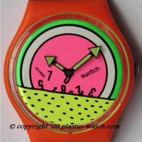 Keith Haring Inspired 1985 Swatch Watch-Breakdance, Ltd Edition.