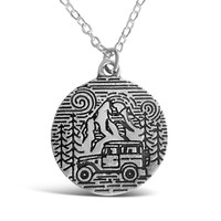 Camping In The Park Stamped Necklace