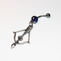 Crossbow Belly Ring, Bow And Arrow, Zombie Jewelry, Belly Button Rings, Navel, Arrows, Belly Piercing