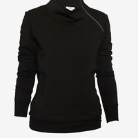 HELMUT Zip Neck Pullover Sweatshirt-Helmut-Designers-Categories- IntermixOnline.com