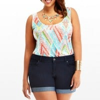 Plus Size cuffed denim shorts | Fashion To Figure